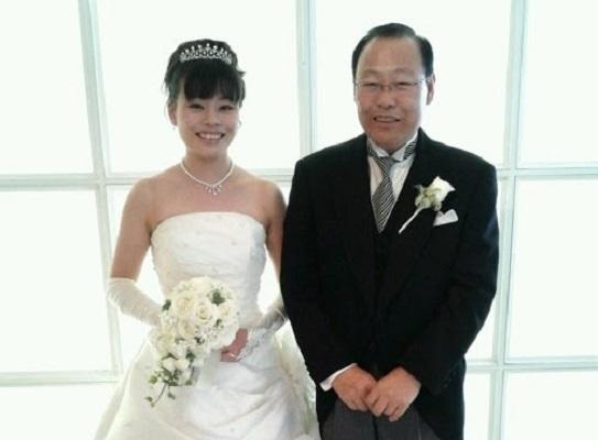父との記念写真