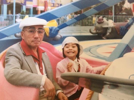 おじいちゃんとの記念写真